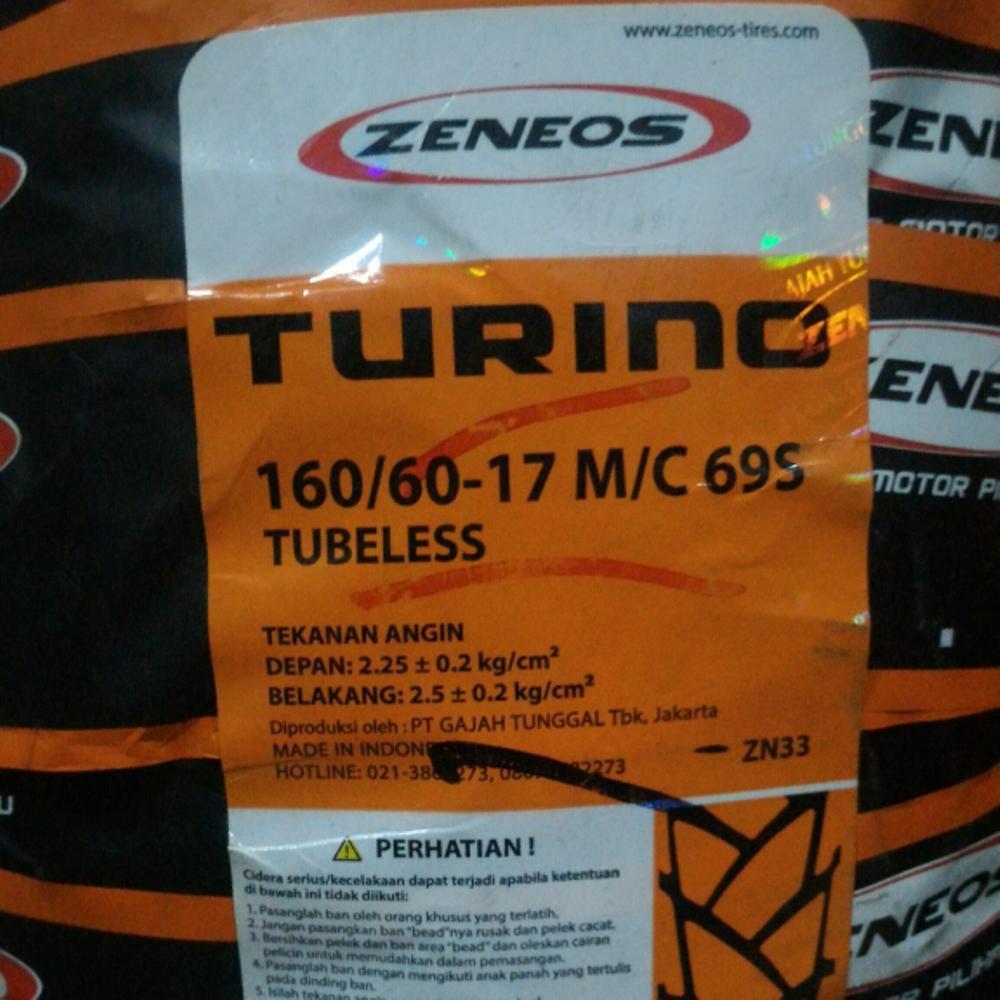 Ban Motor Tubles Ring 14 Zeneos Turino Zn 33 Tl 70 90 80 75 17 Tubeless 100 Shopee Indonesia