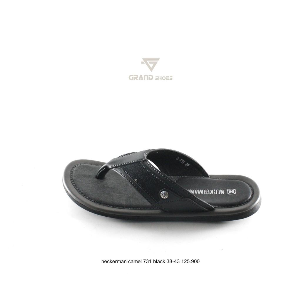 sandal jepit pria neckerman lv 9351 coklat hitam ivory | Shopee Indonesia