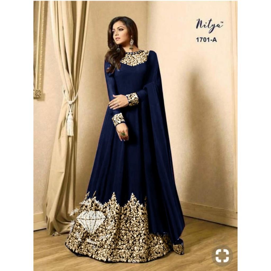 Ju25 Gamis India Drashti 4warna Gc Maxi Dress India Pakaian Muslim Wanita Terbaru Ootd Shopee Indonesia