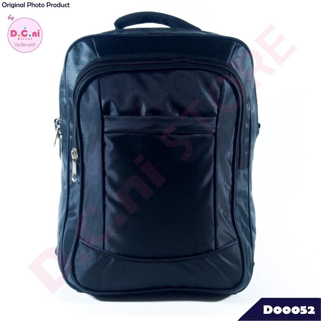 Tas Ransel Backpack Selempang 2in1 Softcase Laptop Sekolah Kuliah Kerja  Pria Wanita Hitam Murah  f8d55cc74f
