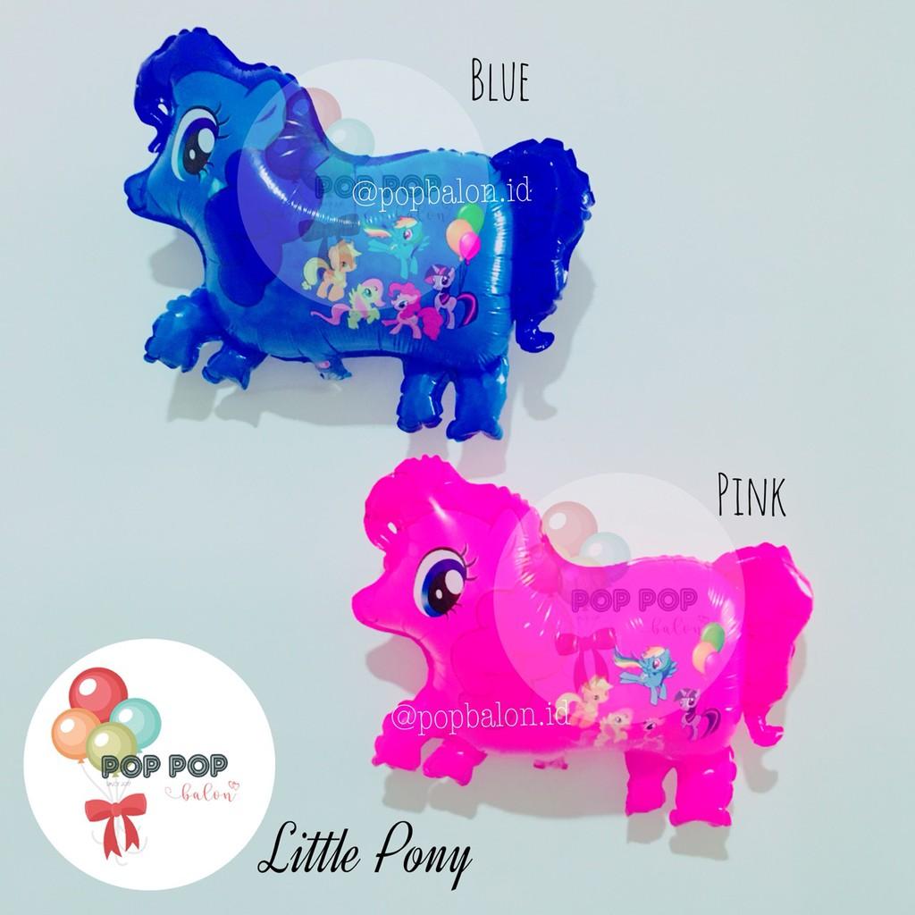 Balon Foil Little Pony Kuda Poni Pink Biru Shopee Indonesia