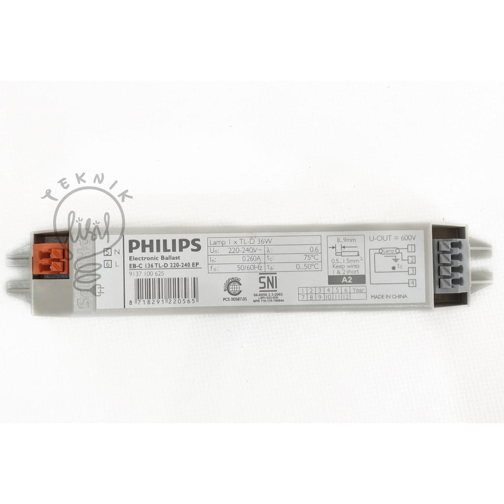 Electronic Ballast Philips 36 Watt 36 W Trafo Lampu Tl Ebp0100200aa Shopee Indonesia