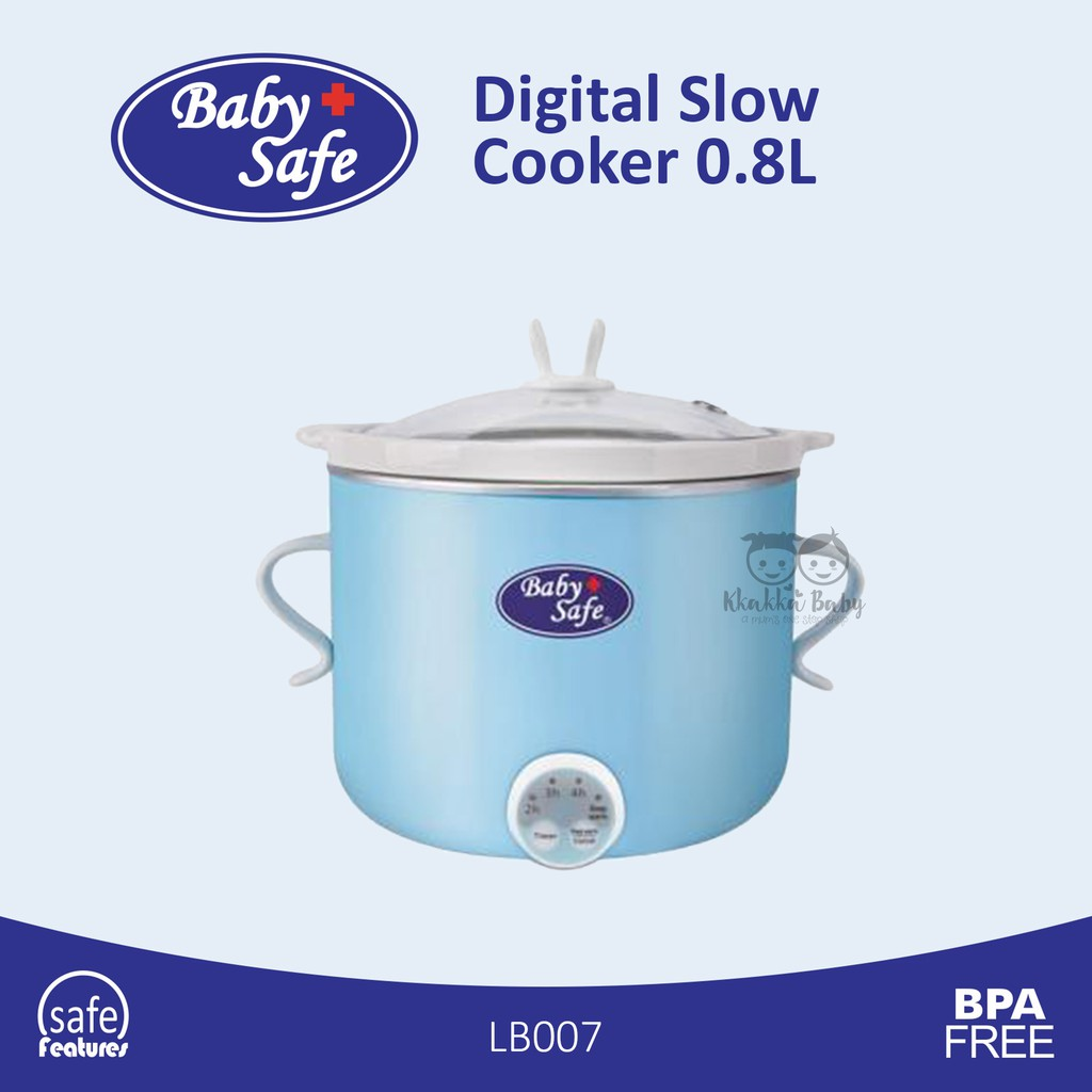 Baby Safe Digital Slow Cooker 0.8L LB007/ Babysafe Slow Cooker Digital 0,8 Liter / Cooker Digital | Shopee Indonesia