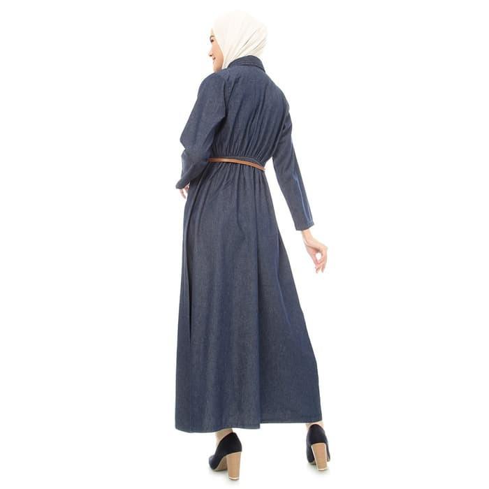 Baju Busana Muslim Wanita Gamis Jeans Dress Terbaru Shopee Indonesia