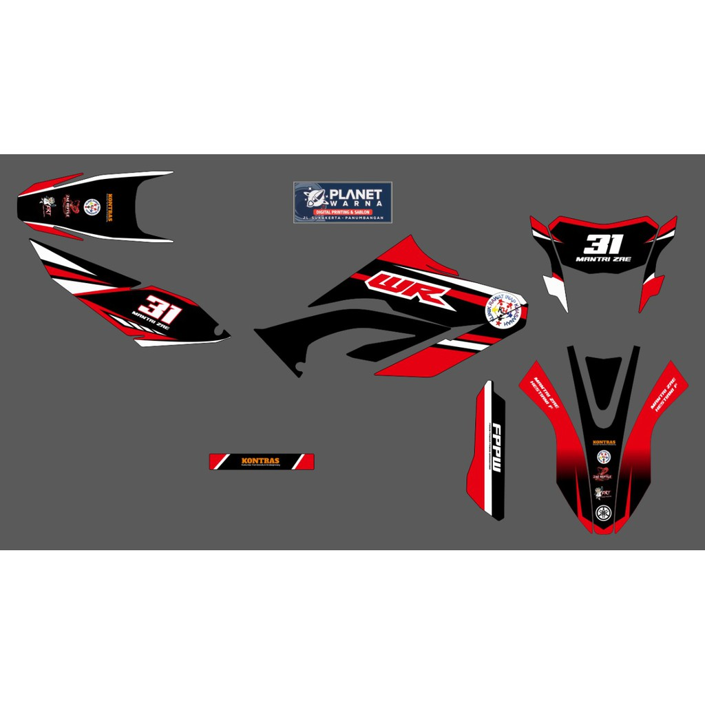 DECAL YAMAHA WR155