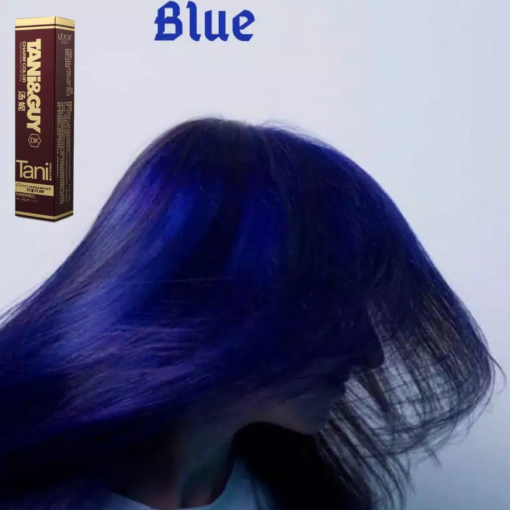 Bisa Cod Cat Rambut Tng Blue Biru Highlight Ombre Bayalage Pewarna Rambut 100ml Shopee Indonesia