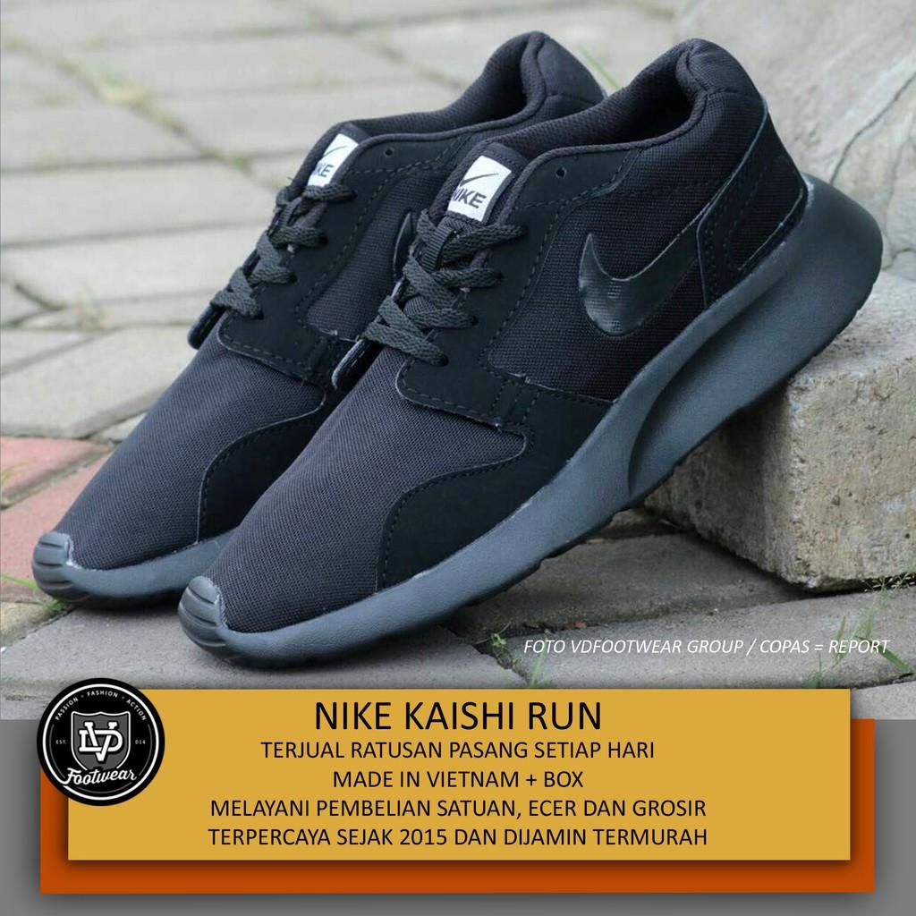 NIKE KAISHI FULL BLACK - Sepatu Olahraga Pria Sneakers Casual Kasual Running  Shoes Jogging Lari  20470f6c35