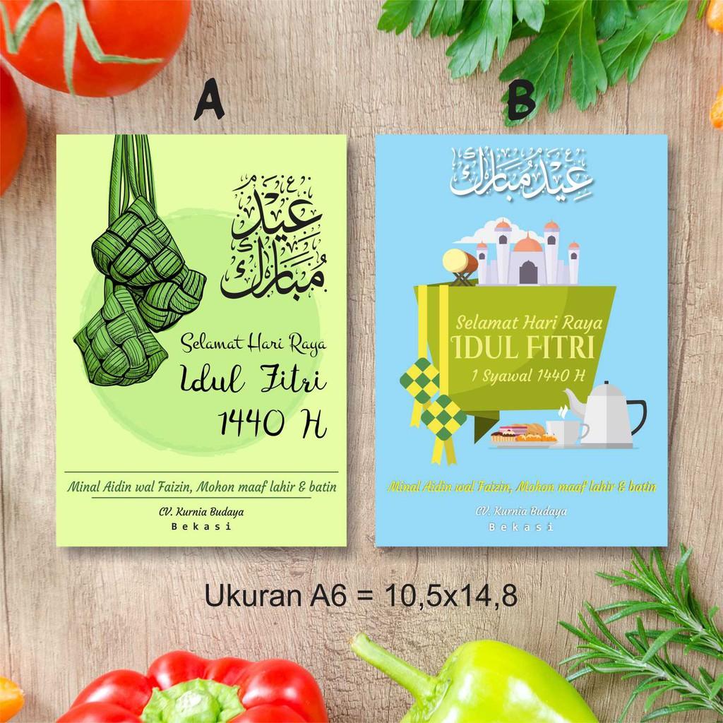 Stiker Label Ucapan Selamat Hari Raya Idul Fitri 1440 H Ukuran A6