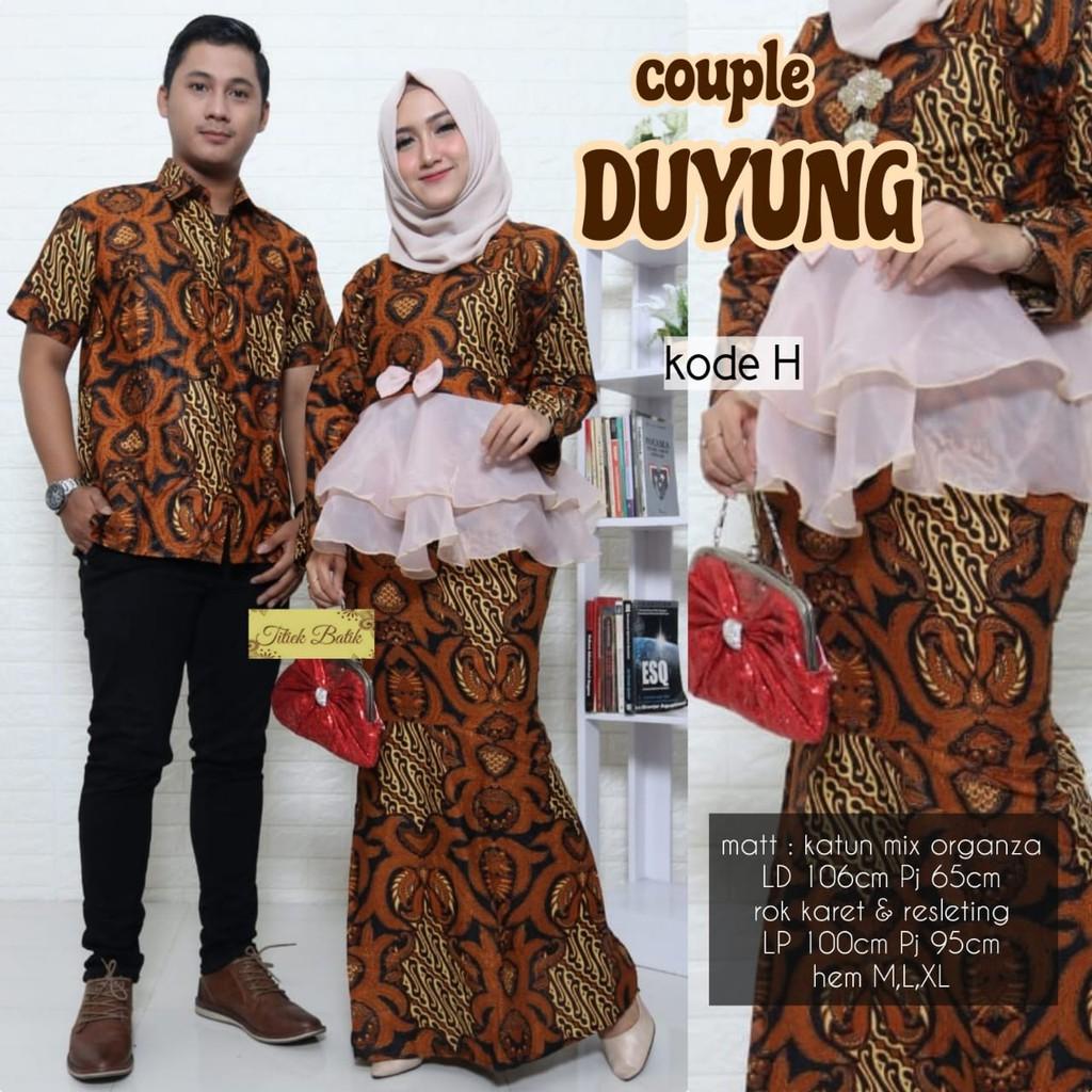 Couple Duyung Batik Solo Batik Couple Keluarga Kemeja Batik Pria Gamis Batik Modern Ori By Titiek