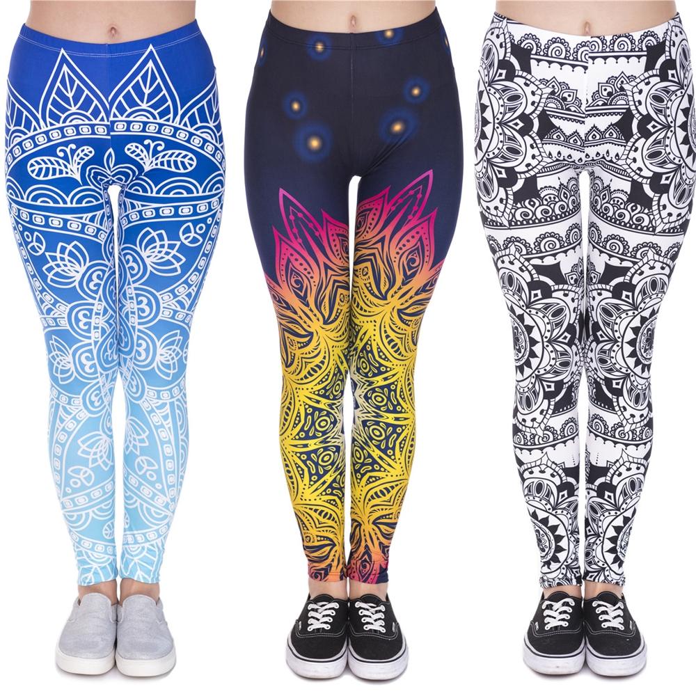 Celana Legging Panjang Model Mandala Untuk Yoga Shopee Indonesia