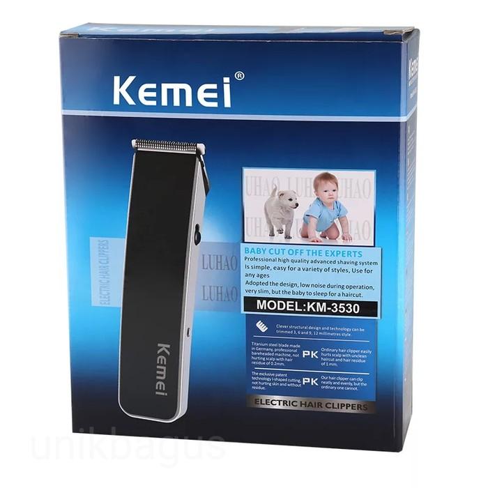 Alat cukur bayi dan dewasa Kemei Alat Cukur baterai charge Hair Clipper KM-3006  Lengkap  0abf8d1294