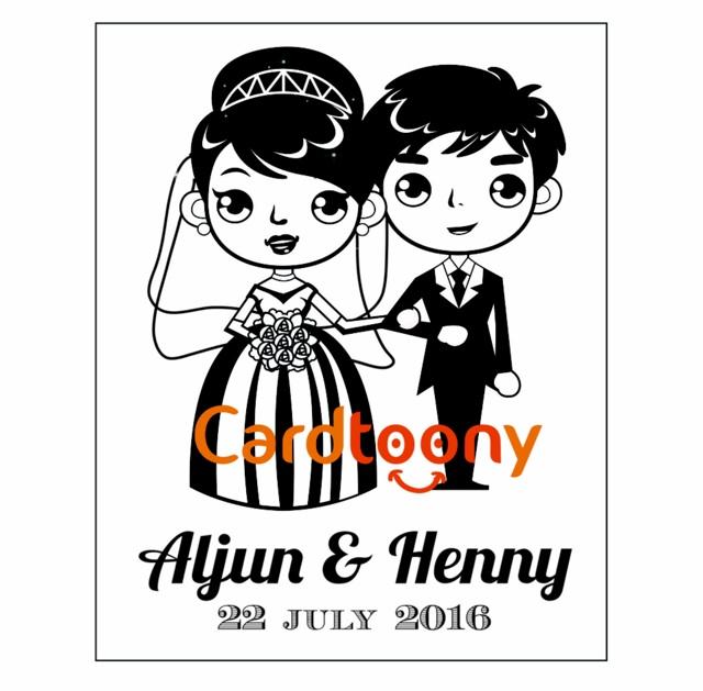 Sticker Stiker Label Nama Transparan Wedding Pernikahan Lucu