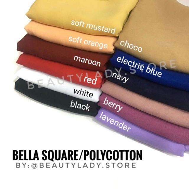 Pollycotton Ori Bella Square Jahitan Tepi Bukan Neci Shopee