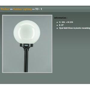 Dijual Lampu Taman Bulat Dlx Lighting Tipe To1 Diameter 22 5 Shopee Indonesia