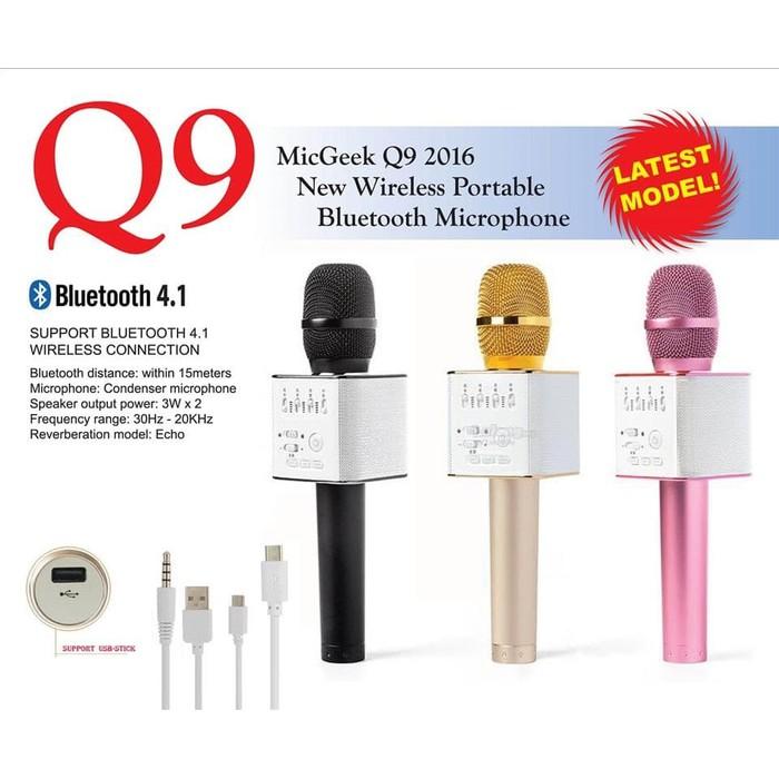 JAKARTA Microphone Wireless Bluetooth Ws858 Mic Karaoke Ws 858 Wster Ws-858 Mic Karaoke Smule   Shopee Indonesia