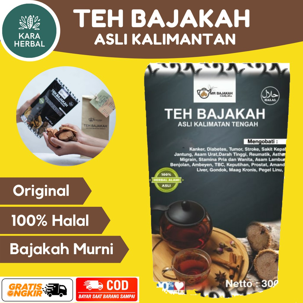 Original Teh Bajakah Asli Kalimantan Premium Super Akar Kayu Bajakah Obat Herbal Asam Urat Ambeien