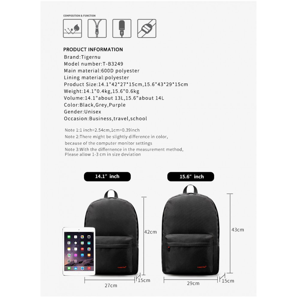 Dtbg Business Travel Backpack Laptop Bag D8205w 156 Inch Hitam Original Digital Bodyguard Usb Port Shopee
