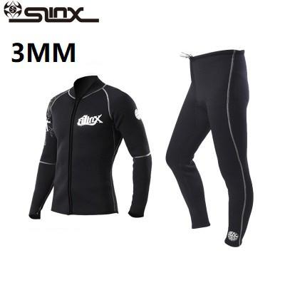 Men Wetsuit Top Black 3mm Neoprene Wetsuit Surf Surfing Diving Vest Shirt Zipper