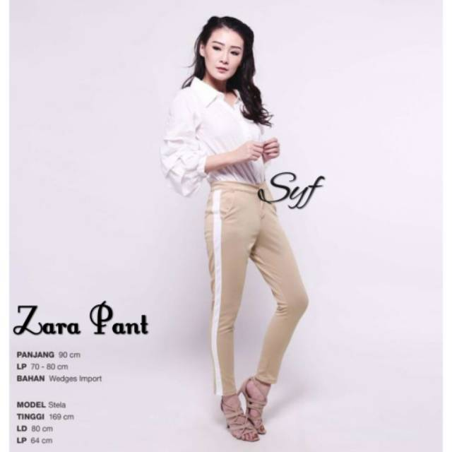 Zara Pants Cek Keterangan Zara Stripe Side Stripe Pants Side