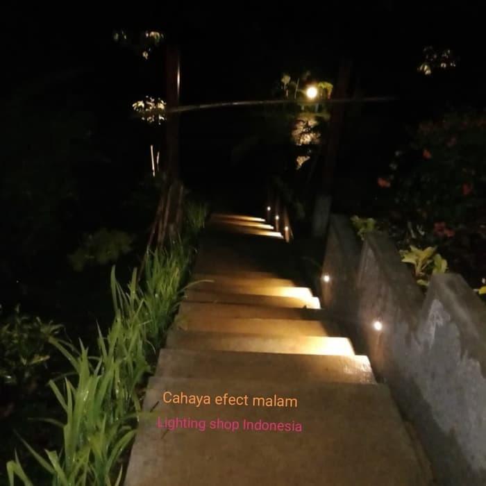 H212b Lampu Tangga Led Waterproof Bulat Stairs Lamp Taman Lantai Shopee Indonesia