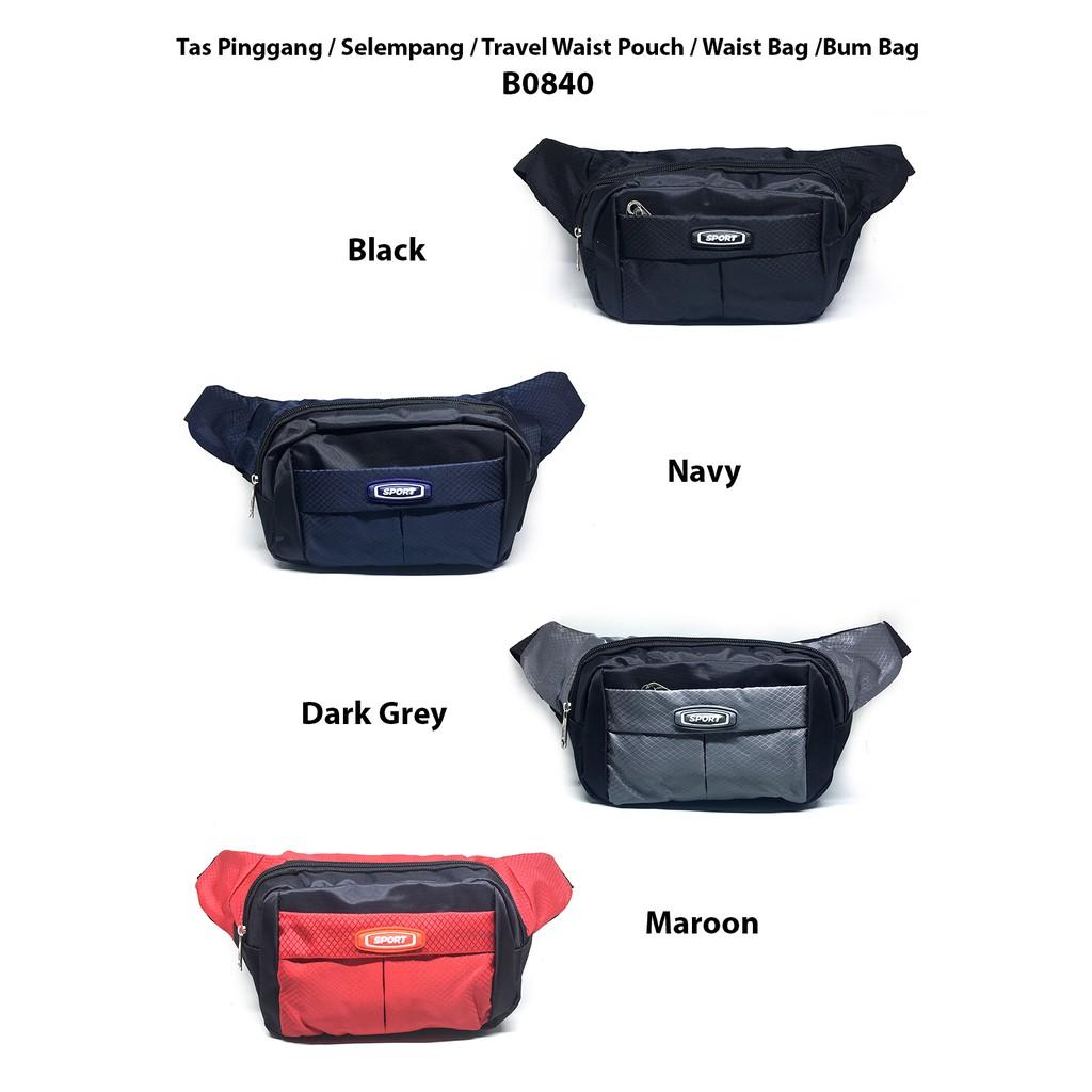 45e8461f10fb Tas Pinggang   Selempang   Travel Waist Pouch   Waist Bag   Bum Bag B0852