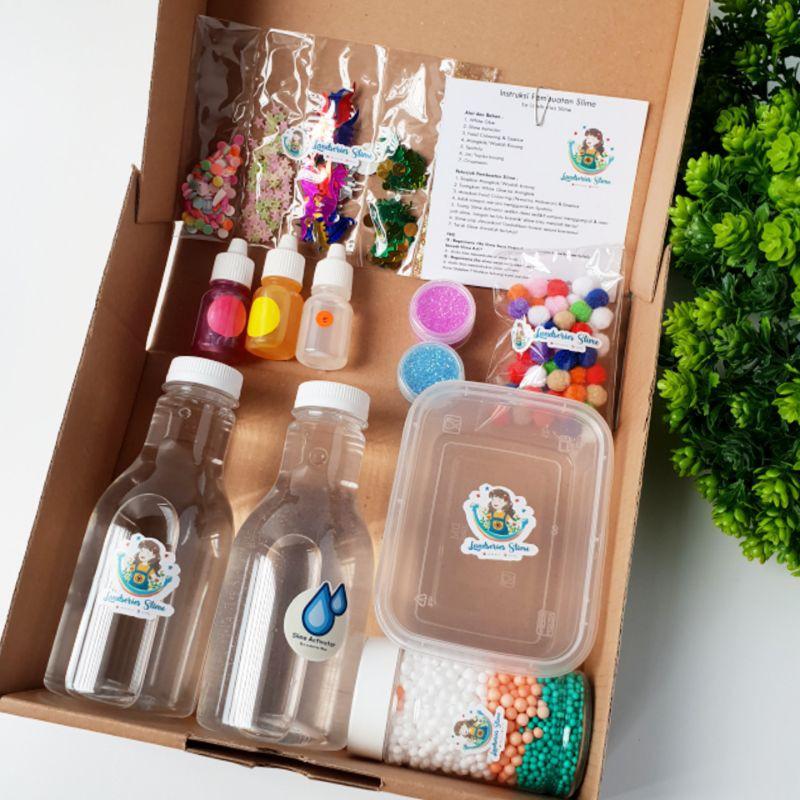 DIY Mini Clear Slime Kit by Landseries Slime | Bahan Slime
