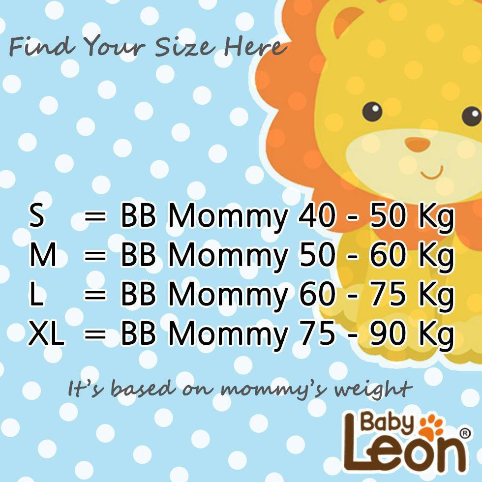 BABY LEON Gendongan Bayi Kaos Polos/ Geos Baby Leon / Praktis / Simple Gak Ribet