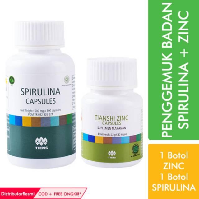 Paket 1 Penggemuk Badan TIENS   Zinc + Spirulina   Penambah Berat Tubuh Herbal   Shopee Indonesia