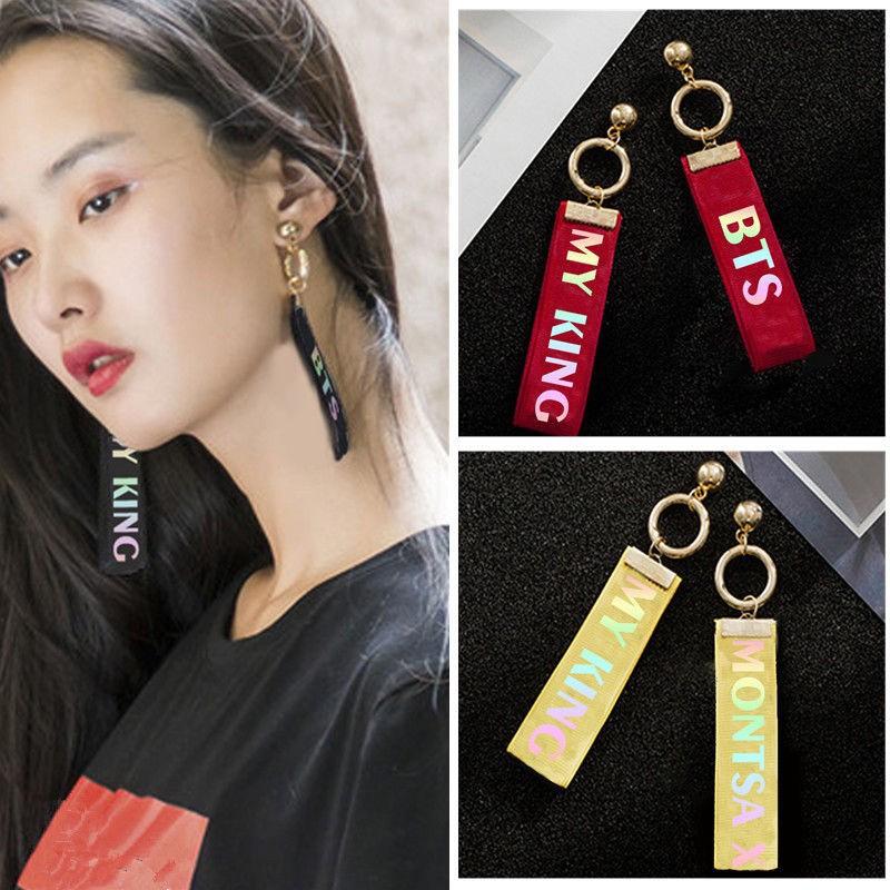 Bayar Di Tempat Kpop Bts Exo Got7 Laser Name Tassel Earrings