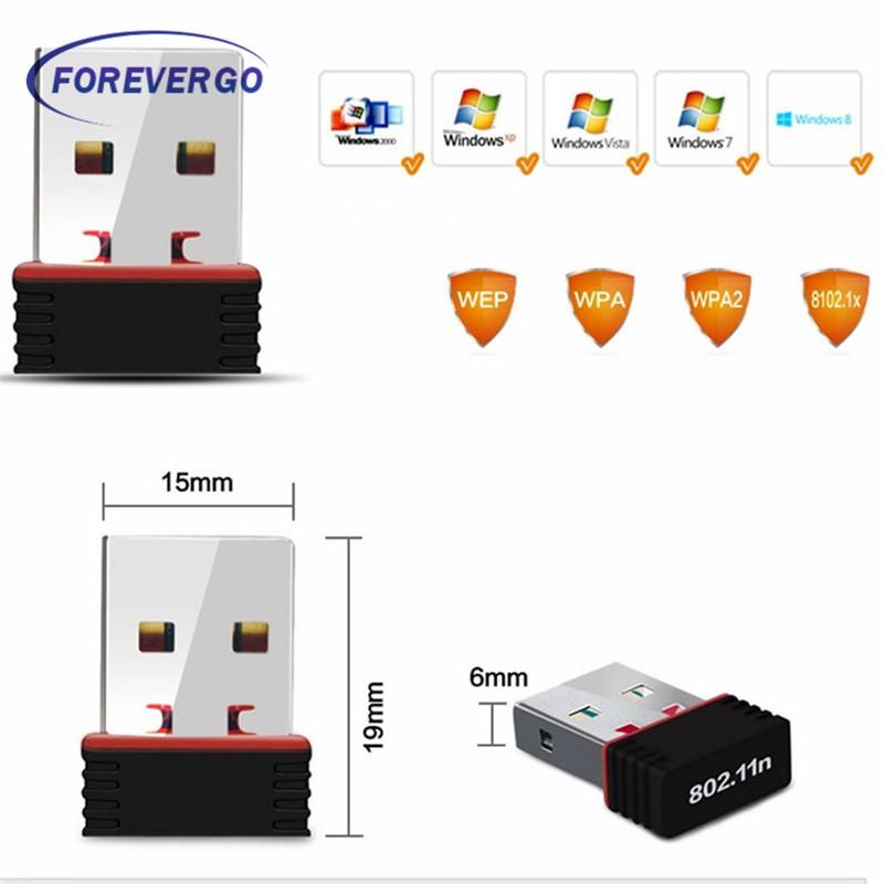 RE USB Wifi Adapter Wireless Network Card Ethernet Antena Wifi Receiver USB  LAN