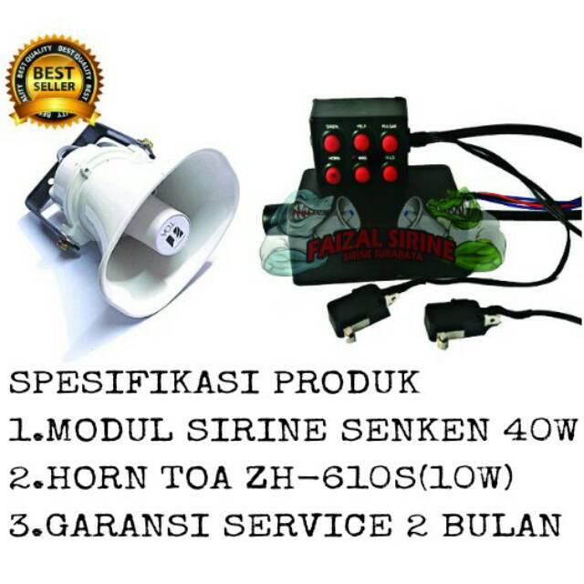 Paket modul sirine senken + horn speaker toa zh-610s on