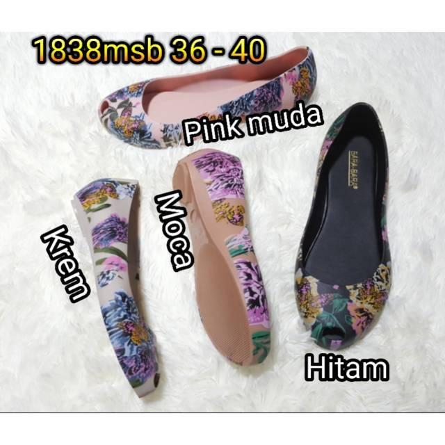Jelly shoes bara bara flat shoes karet import sepatu wanita 278 | Shopee Indonesia