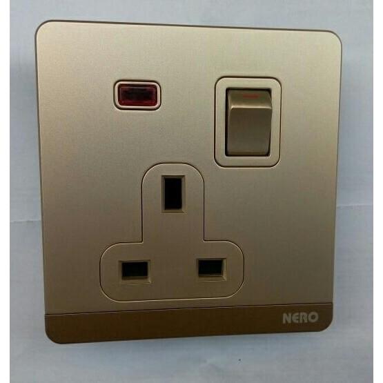 Nerolight Q71611D-G Saklar Single LED Gold. Source · stop kontak nero - Temukan