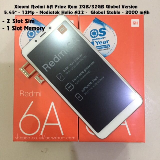 Xiaomi Redmi 6a Prime Ram 3gb Rom 32gb 3 32 Grey Gold Blue