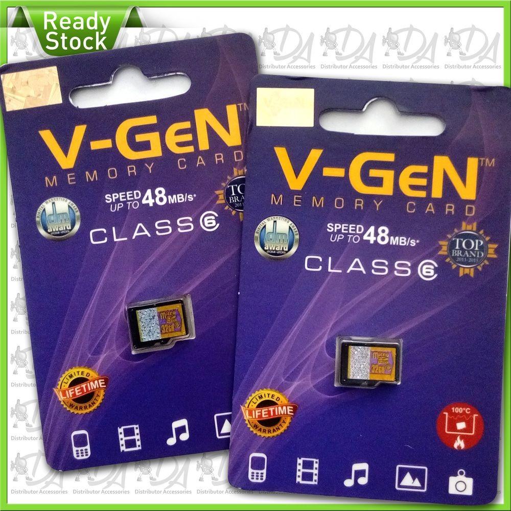 Micro SD / SDHC V-GEN 4GB 8GB 16GB 32GB Class 6 48MB/s Original | Shopee Indonesia
