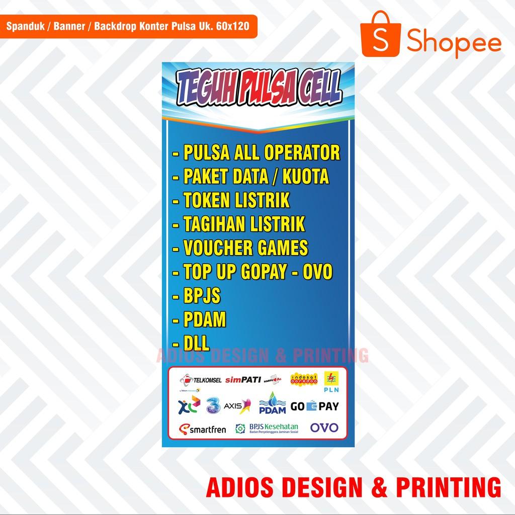 Banner Spanduk Jual Pulsa Ukuran 120x60 Mantap Murah Banget Shopee Indonesia