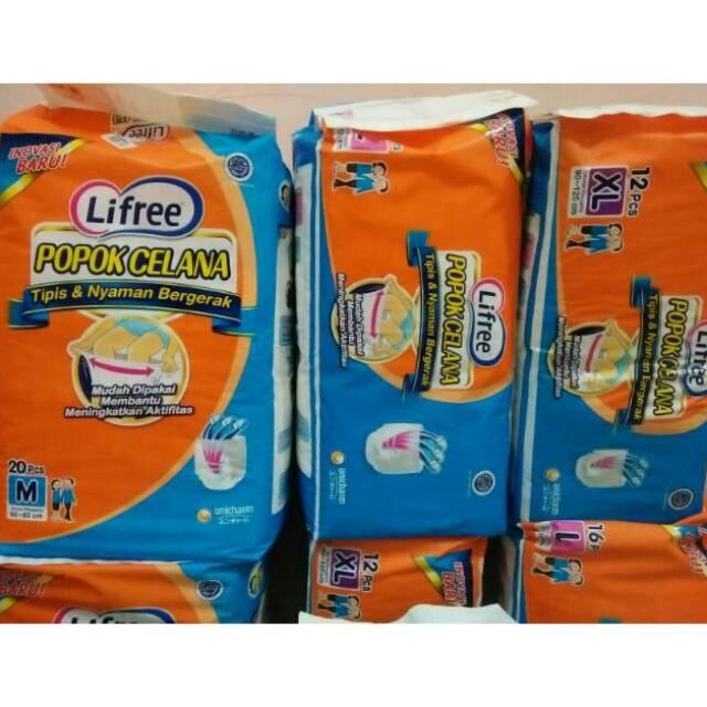 MURAH Lifree Popok Celana Light Jumbo Tipis Nyaman Bergerak M 20 L 16 XL 12 Popok Lansia Orang Tua | Shopee Indonesia