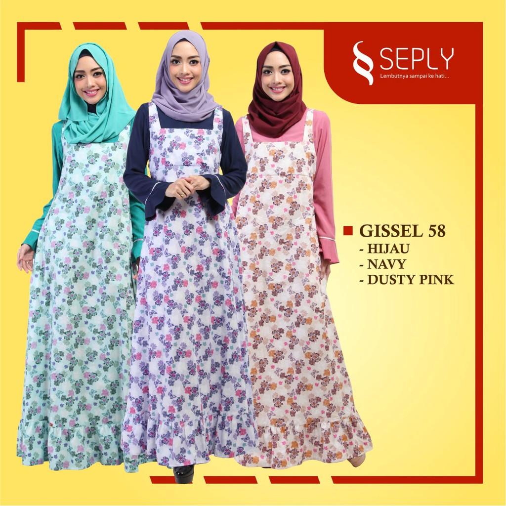 Seply Gamis Gissel 58 Hijau | Shopee Indonesia