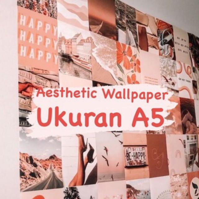 Ukuran A5 Aesthetic Wallpaper Poster Dinding A5 Shopee Indonesia