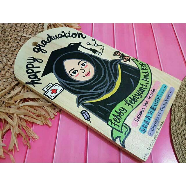 Lampion Benang Kado Wisuda Custom Toga Cowok Shopee Indonesia