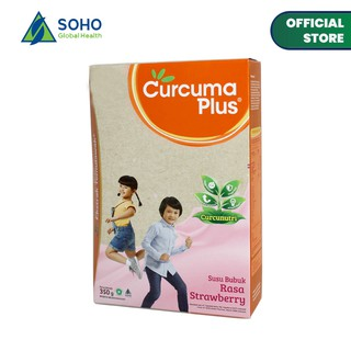 Curcuma Plus Susu Bubuk Anak - Strawberry 350gr (1 - 6 ...