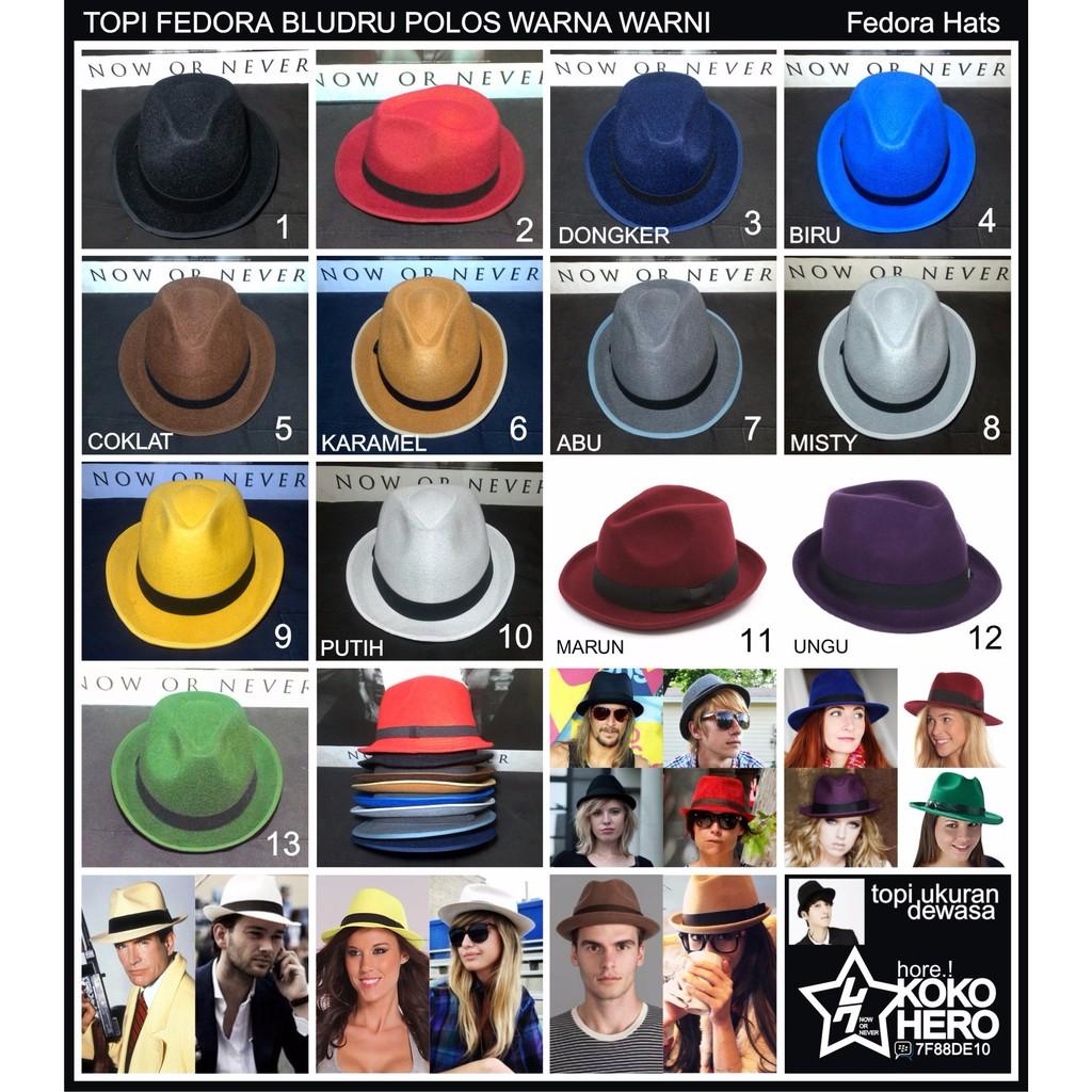 JUAL topi Fedora Coboy hat dewasa beludru hats TERUPDATE  328a302bcd