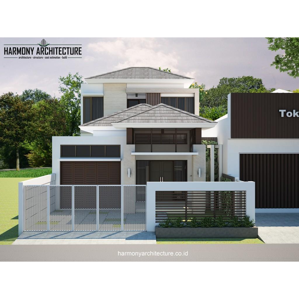 Desain Rumah Minimalis Modern 2 Lantai Lahan 8 X 13 Shopee Indonesia