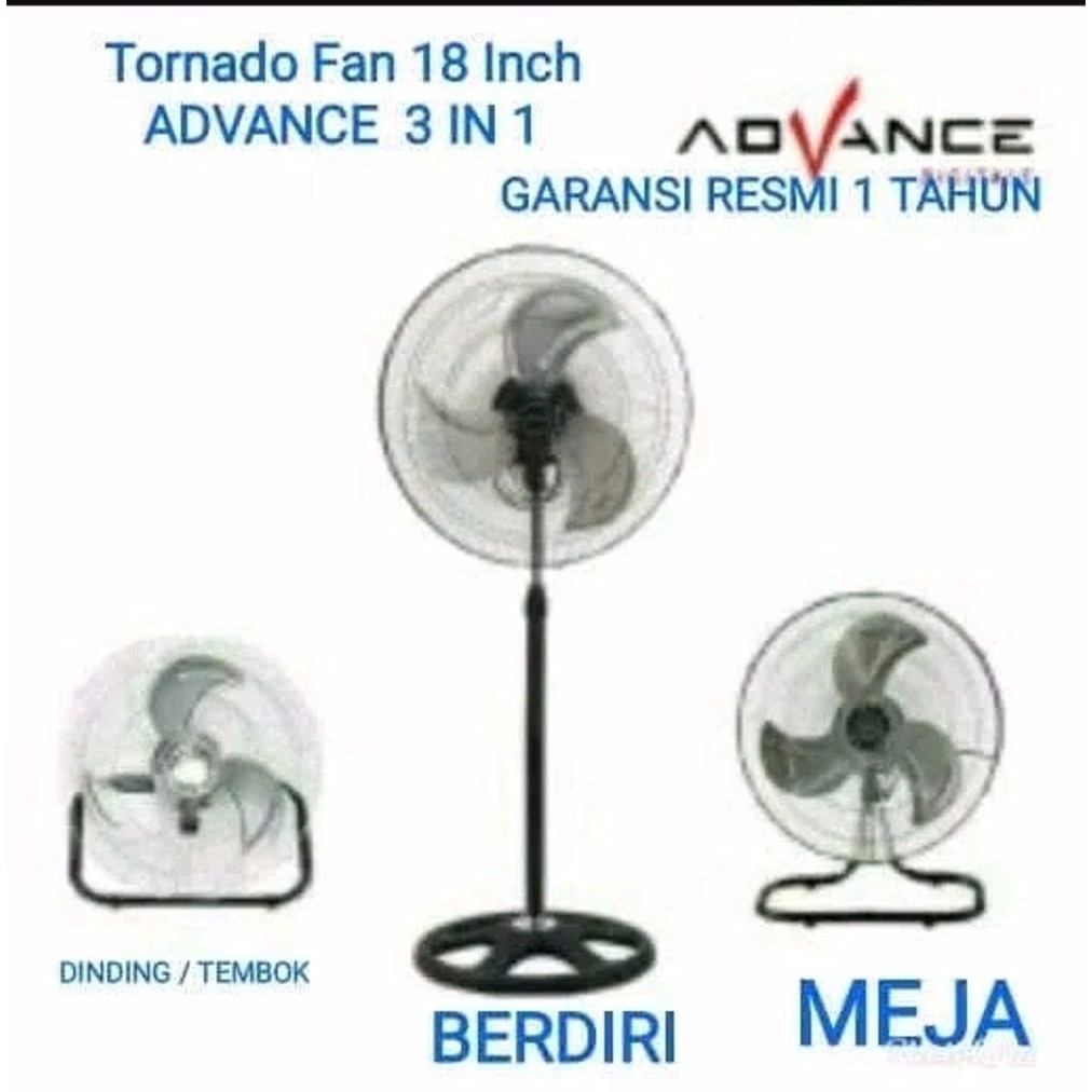 Kipas Angin Advance TDS-18 3in1 multifungsi Tornado fan | Shopee Indonesia