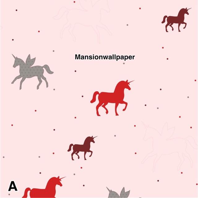 Wallpaper Dinding Anak Kuda Unicorn Pink Cream Putih Shopee Indonesia