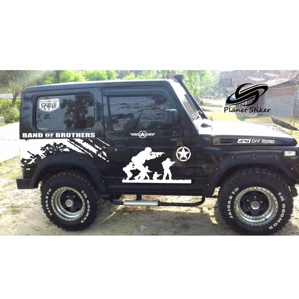 Cutting Sticker Stiker Mobil Tiger Tribal Keren Escudo Feroza Jeep