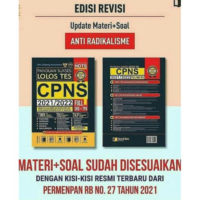 Buku Tes Cpns 2021 2022 Update Soal Radikalisme Sesuai Kisi Kisi Cpns 2021 Shopee Indonesia
