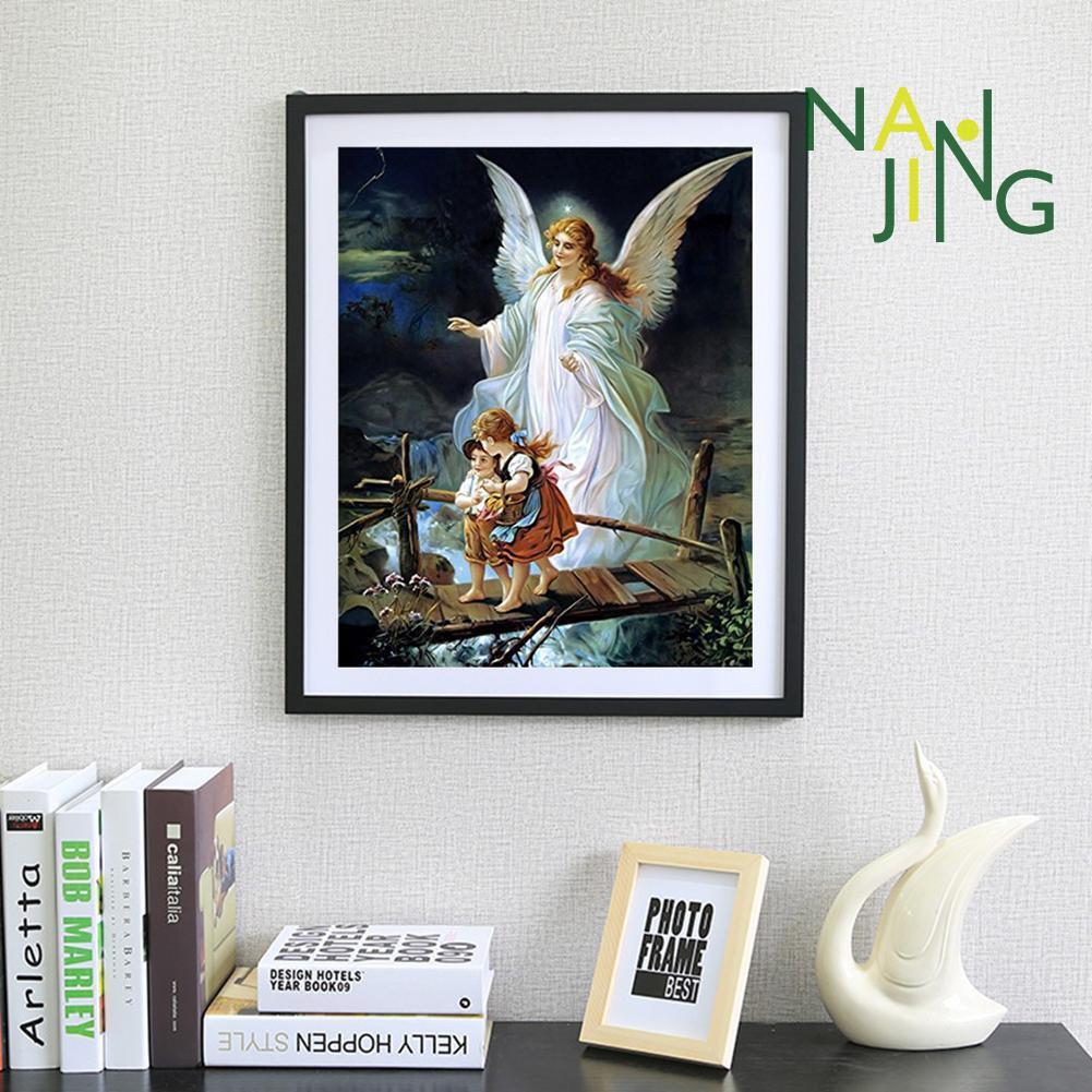 COD Lukisan Diamond 5D DIY Gambar Malaikat Untuk Dekorasi Rumah