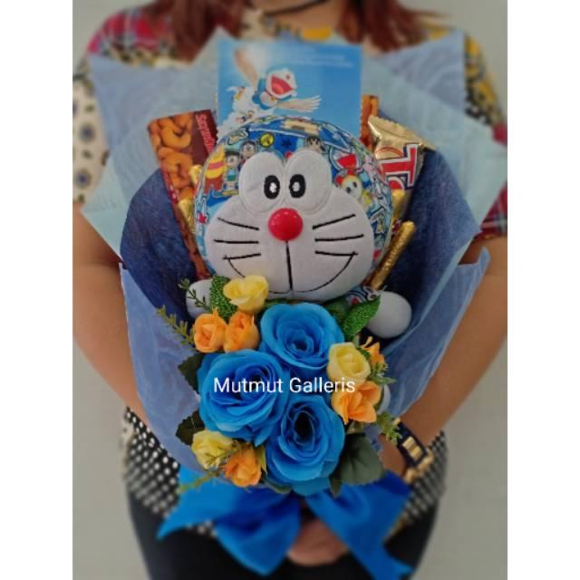 Buket Murah Bunga Coklat Boneka Doraemon Kode 160 Kado Ultah Valentine Wisuda Shopee Indonesia