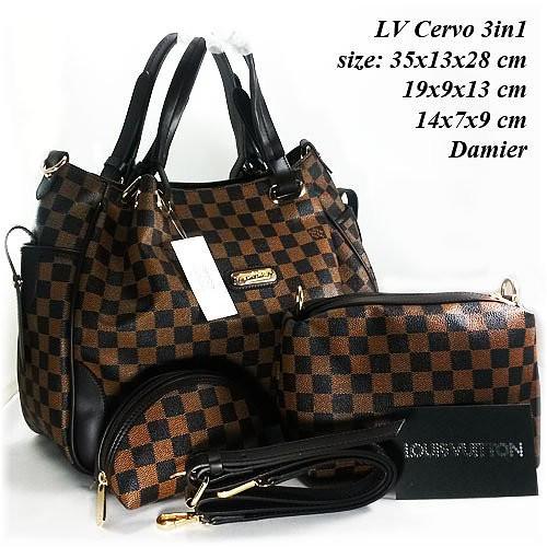 Promo Tas Wanita Louis Vuitton LV Cervo 3in1 Harga Murah ...